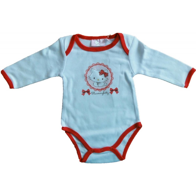 Hello Kitty Charmmy Kitty Baby Body langärmelig Rot 12 Monate