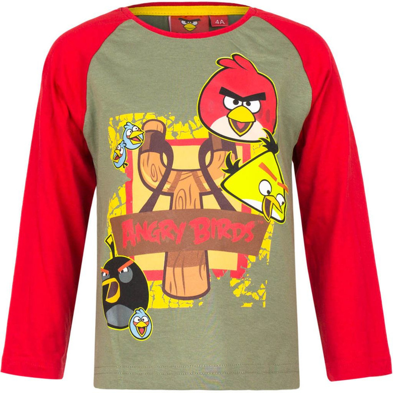 Angry Birds Langarmshirt in Grau 104 ( 4 Jahre)