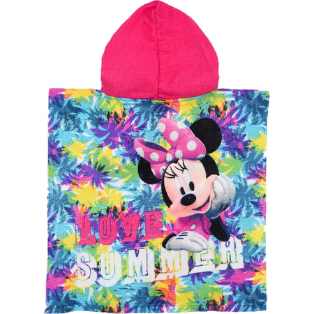 Disney Minnie Maus Bade Poncho mit Kapuze Summer